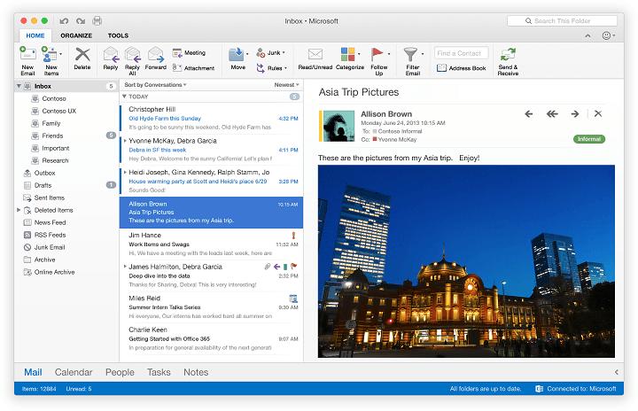 Исправлено: Outlook 2016 для Mac зависает в OS X El Capitan.