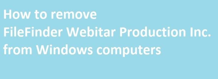 Как удалить FileFinder Webitar Production Inc. с компьютеров Windows
