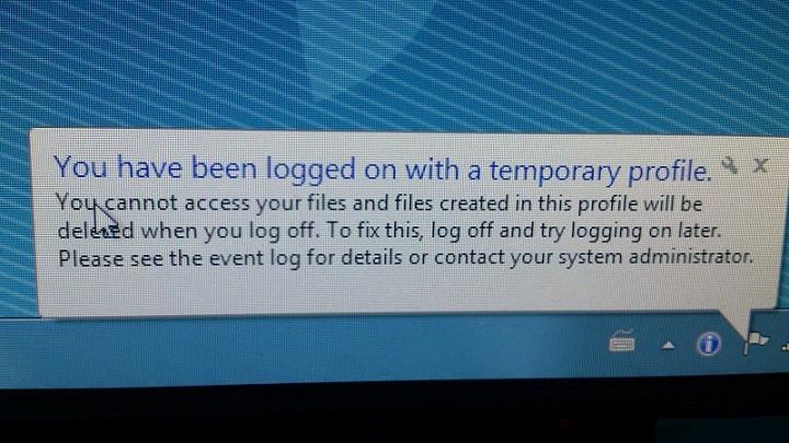 Microsoft исправляет ошибку Профиль пользователя – временный профиль