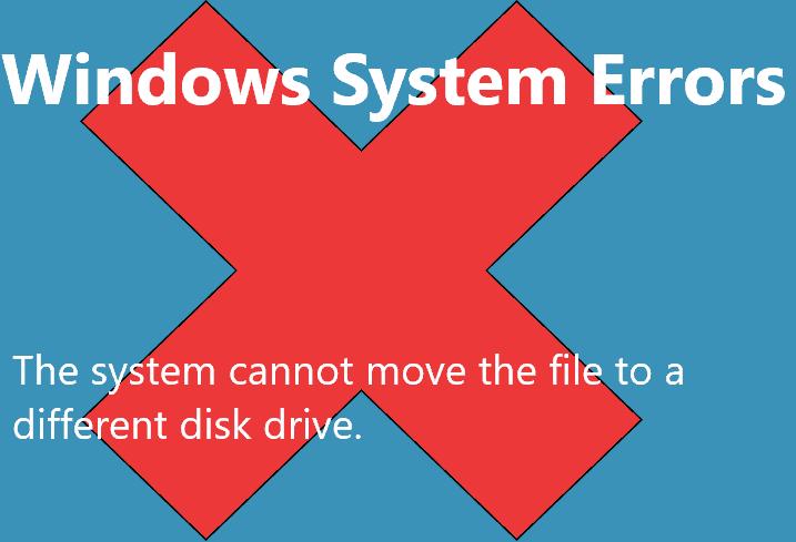 Система не может переместить файл на другой диск.