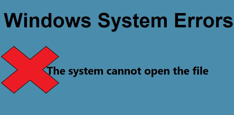 Ошибка исправления: система не может открыть файл.