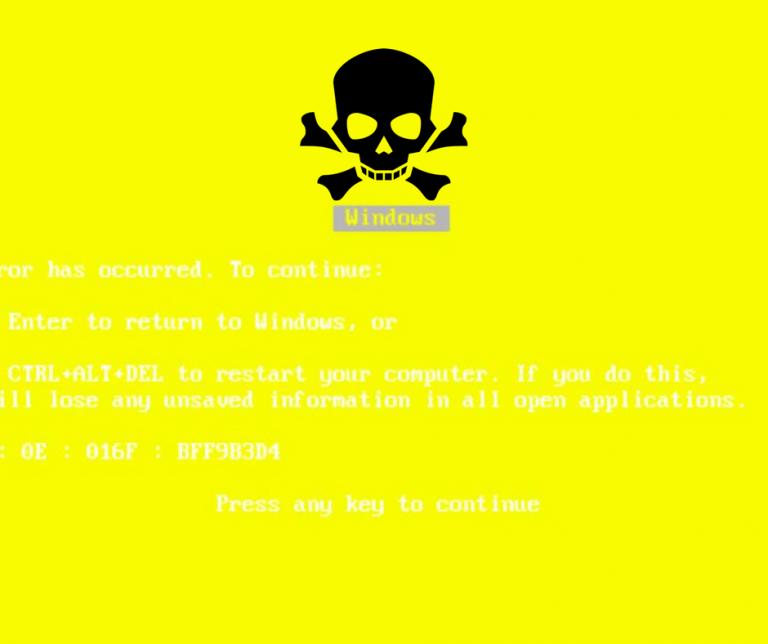 Желтый экран смерти в Windows 10: вот как его решить