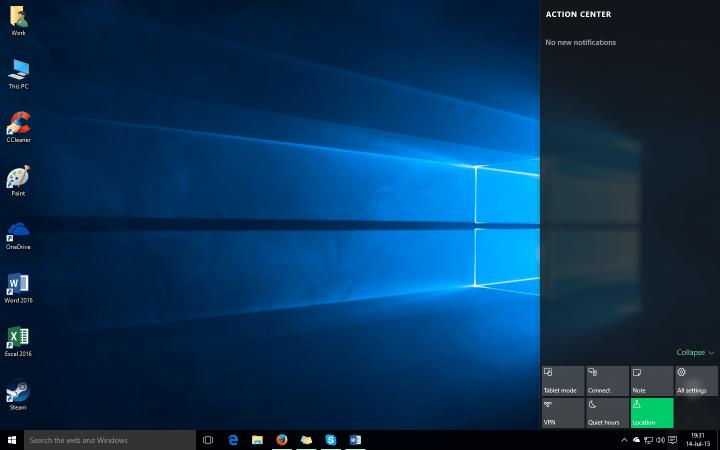 Центр действий Windows 10: полное руководство