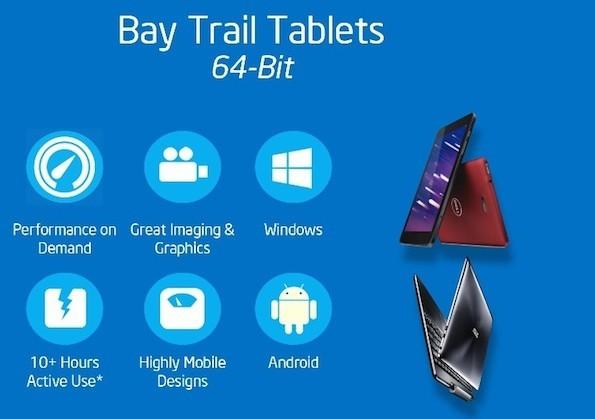 Планшеты Windows 8.1 с 64-битными чипами Intel Bay Trail в первом квартале 2014 г.
