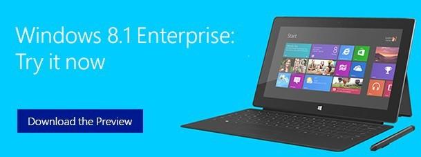 Предварительная версия Microsoft lanza Windows 8.1 Enterprise[Download]