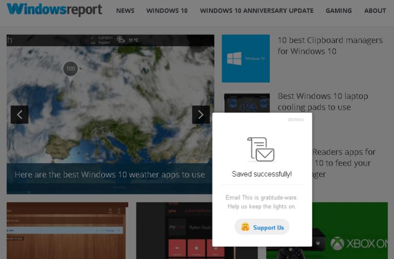 Отправить по электронной почте для Chrome помогает сохранять статьи для последующего чтения
