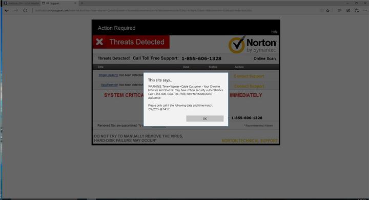 Как исправить всплывающее окно с поддельным предупреждением о вирусе в Microsoft Edge