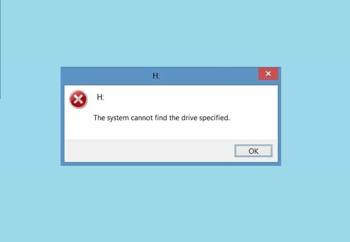 Система не может найти указанный диск