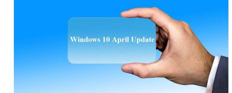 Освободите место на жестком диске в обновлении Windows 10 April 2018 Update