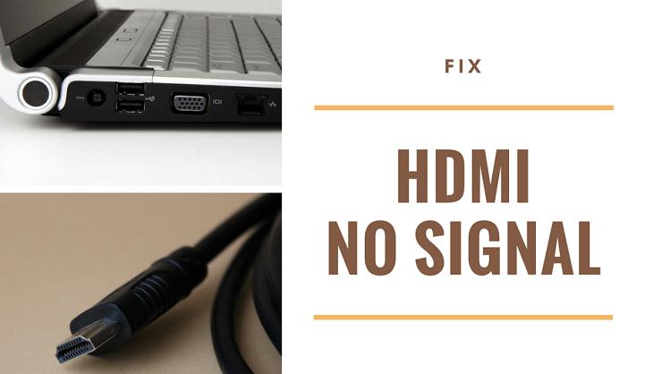 Что делать, если вы не получаете сигнал HDMI