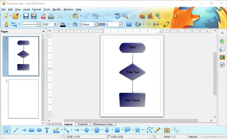 Как настроить блок-схему с помощью программного обеспечения для конструктора блок-схем LibreOffice Draw