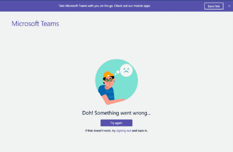 Исправление: Microsoft Teams «Что-то пошло не так»