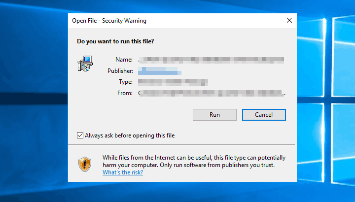 Как отключить предупреждение безопасности при открытии файла в Windows 10