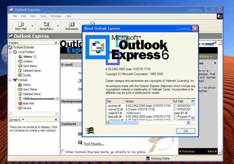 Как загрузить и использовать Outlook Express в Windows 10, 8 или 7