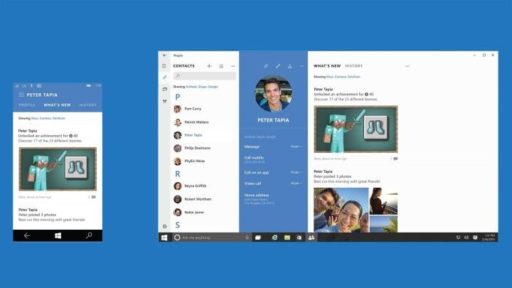 """Приложение """"Люди"""" не имеет некоторых функций после обновления до Windows 10?"""