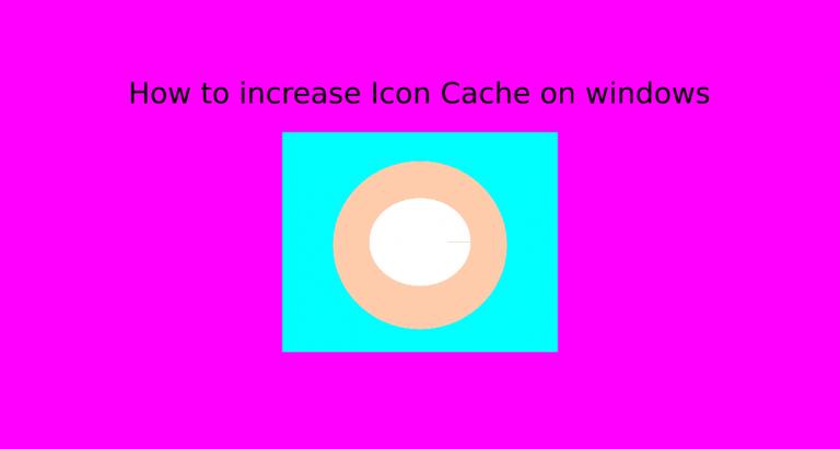 Увеличьте размер кеша значков на ПК, чтобы ускорить работу Windows