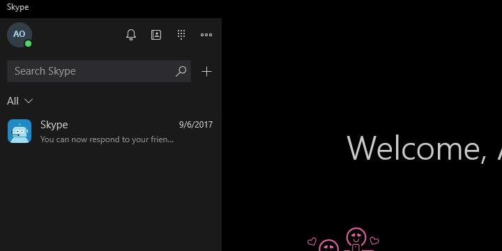 Исправлено: последняя версия Skype не работает в Windows 10.