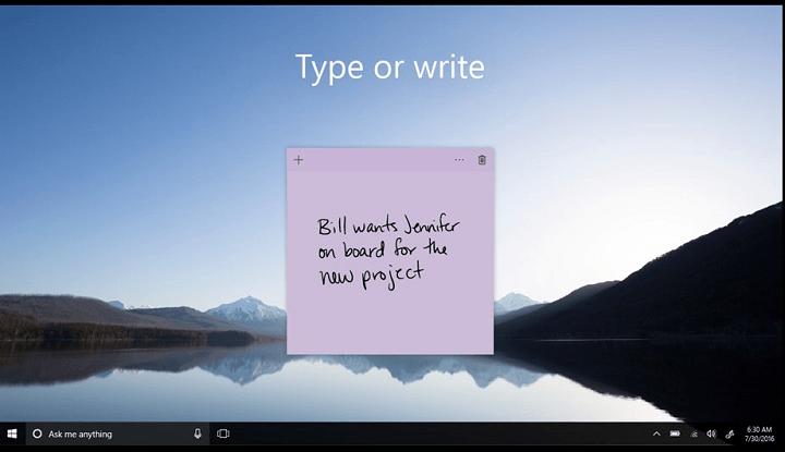 """Исправление: ошибка """"Sticky Notes"""" в настоящее время вам недоступна."""