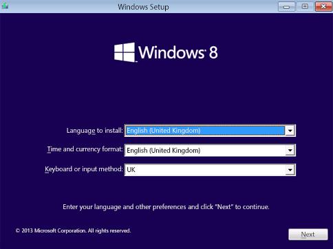 Устранить ошибку Windows 8: ваш вариант миграции не поддерживается.