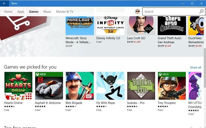 Полное исправление: игры из Магазина Windows не загружаются в Windows 10