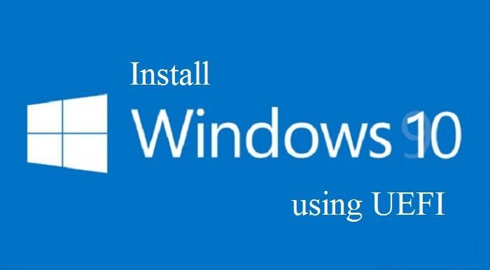 Как установить Windows 10 с помощью UEFI
