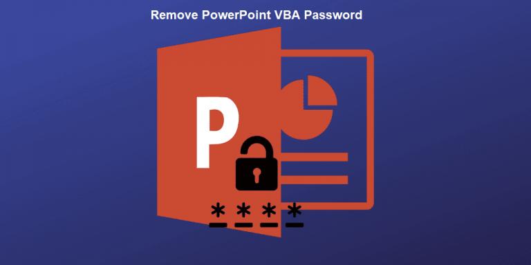 Как безопасно удалить пароль PowerPoint VBA?